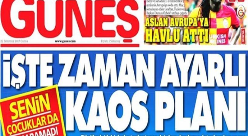 'Gazeteci dayanışma grubuna iftirayla saldıran Güneş, gazete değil...'