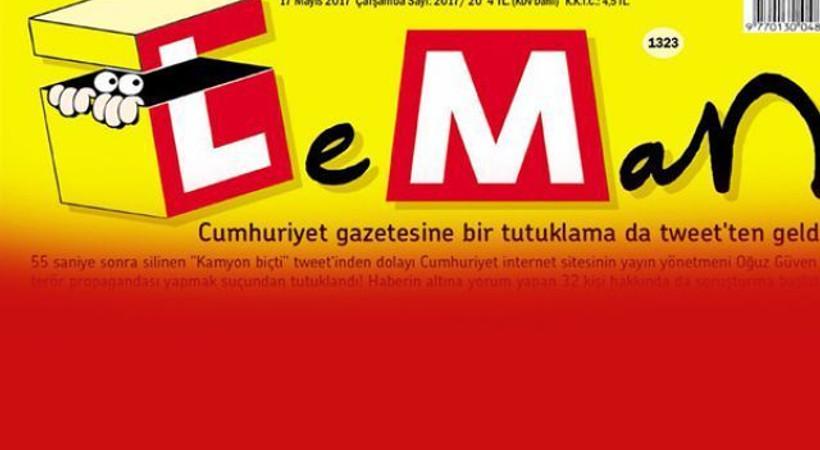 Leman'ın kapağında tutuklanan gazeteci Oğuz Güven var