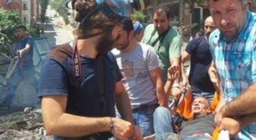 Gazi Mahallesi eyleminde 1 gazeteci yaralandı!