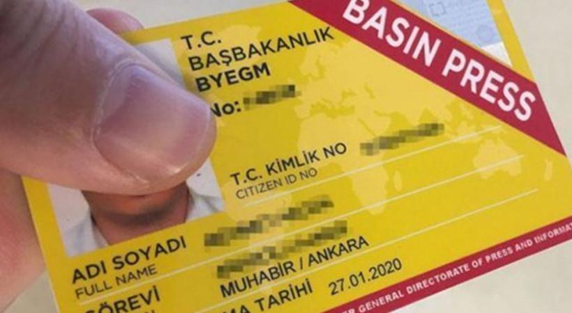 Basın kartlarının rengi artık sarı değil!