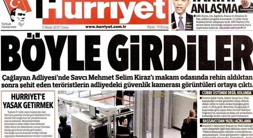 Hürriyet'ten yasağa tepki!