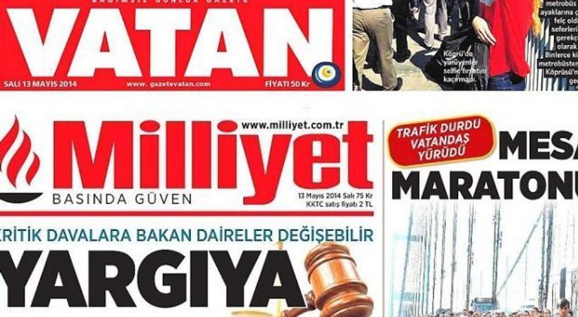 Vatan ve Milliyet'teki birleşme tensikatla başladı! 30 kişiye tebligat!