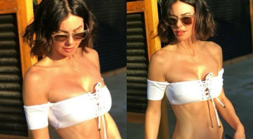Defne Samyeli'nin bikinili pozları sosyal medyayı salladı!