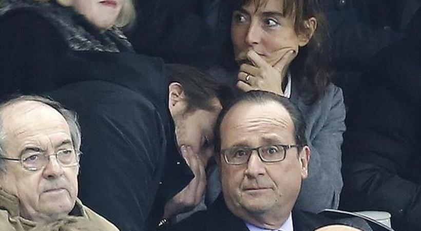 Daily Mail fotoğrafladı! İşte, Hollande'ın saldırıları öğrendiği an!