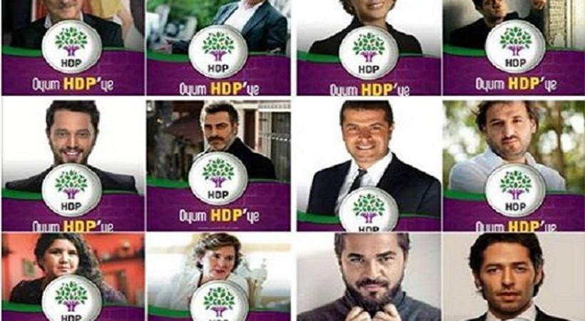 Ünlü isimler HDP'li gösterildi, partiden sosyal medya açıklaması geldi