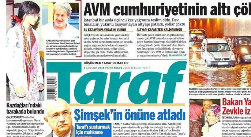 Erdoğan, yine Amberin Zaman'a çattı, Taraf sürmanşetine taşıdı!