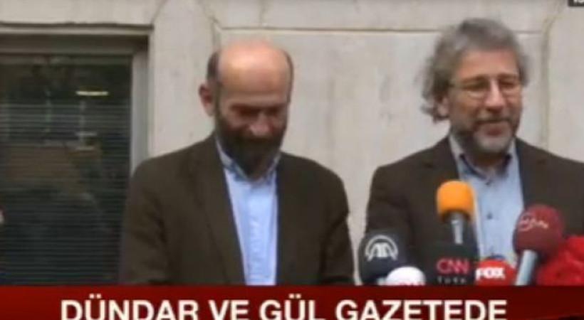 Can Dündar ve Erdem Gül Cumhuriyet gazetesi binasında!