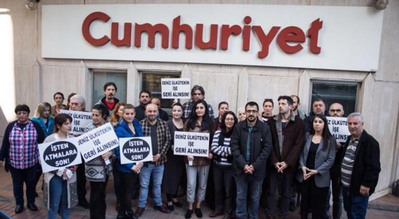 Cumhuriyet gazetesi önünde protesto!
