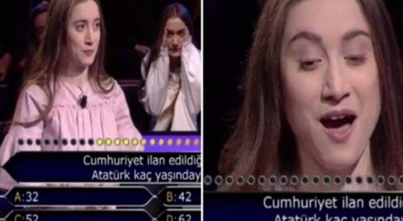 Atatürk sorusuna joker kullanan yarışmacı sunucuya 'eyvah' dedirtti!