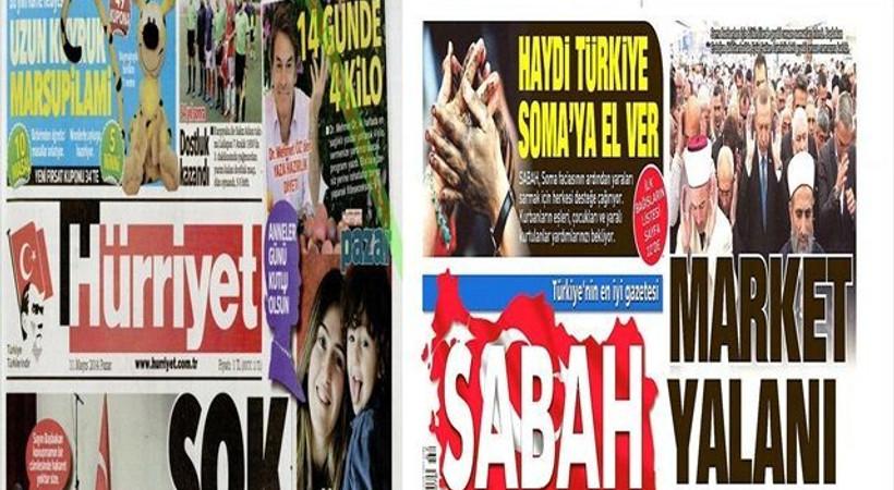 İki gazete arasındaki 'market' haberi polemiği sürüyor! Sabah ve Hürriyet'in genel yayın yönetmenleri köşelerinden yine atıştı!