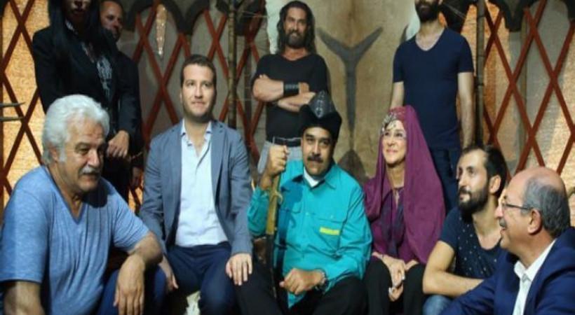 Maduro'dan 'Diriliş Ertuğrul' setine ziyaret