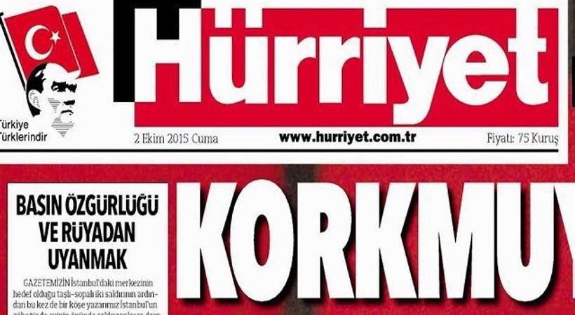 Hürriyet 'korkmuyoruz' dedi! Ahmet Hakan'a saldırıya bu manşetle tepki gösterdi!