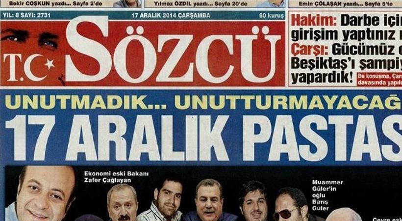 Sözcü yazarları 'yolsuzluk ve rüşvet haftası'nı kutladı