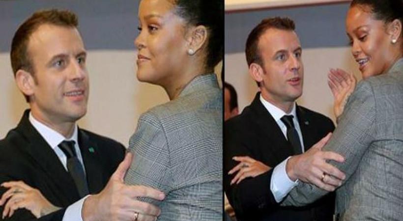 Fransa Cumhurbaşkanı Macron ve Rihanna samimiyeti