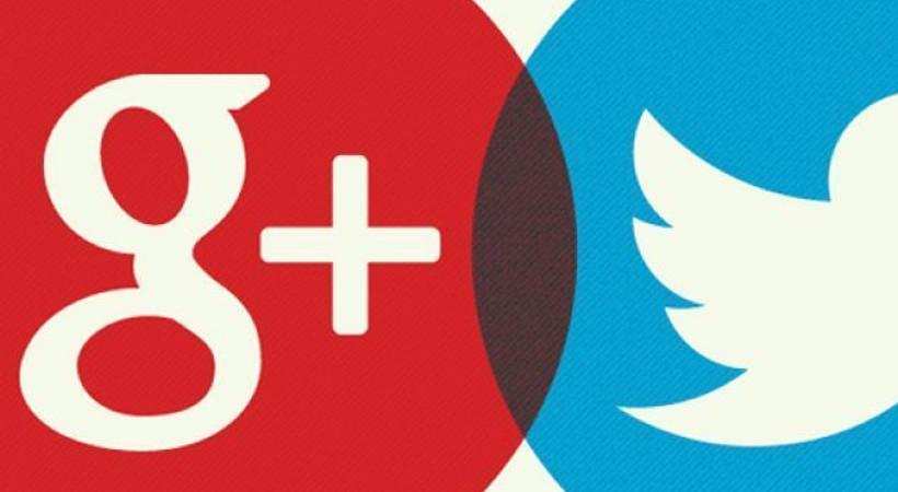 Google Plus artık Twitter'da