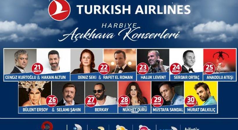 Turkish Airlines Harbiye Açıkhava Konserleri başlıyor!