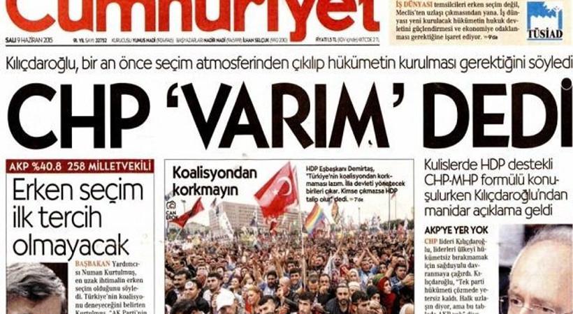 'Erdoğan'a aşık oldum' diyen medya patronu Cumhuriyet'in karikatüründe