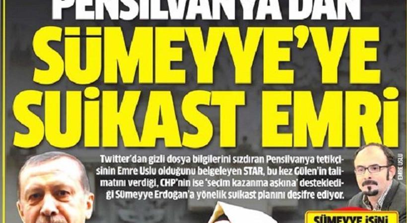 'Sümeyye Erdoğan'a suikast' skandalının peşini bırakmıyor!