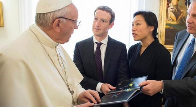 Facebook'un kurucusundan Papa'ya ziyaret!