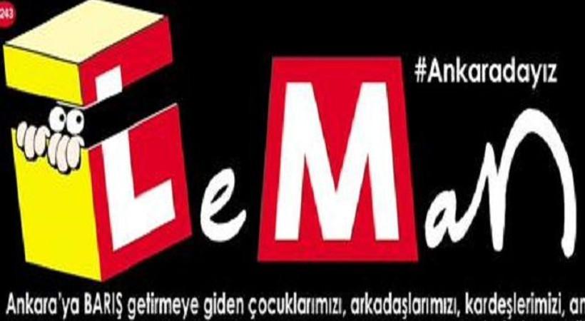 Ankara katliamı ve 'kefenli' slogan LeMan'ın kapağında