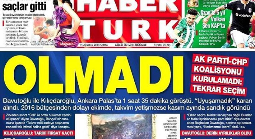 Olmadı! Koalisyon anlaşmazlığını hangi gazete nasıl gördü?