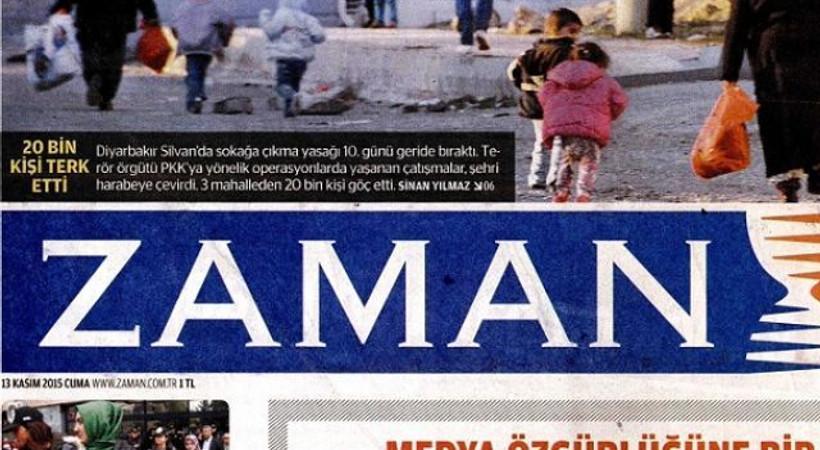 Zaman'dan baskına tepki manşeti: 3 gazete için