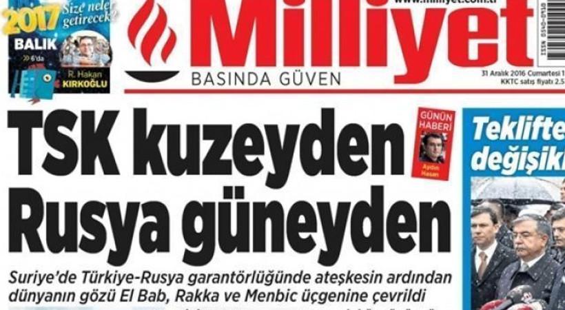 Milliyet gazetesinden Kıbrıs atağı!