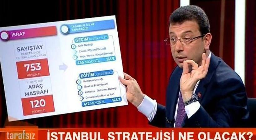 İmamoğlu: CNN Türk, beni çeken kameramanları işten çıkarmış