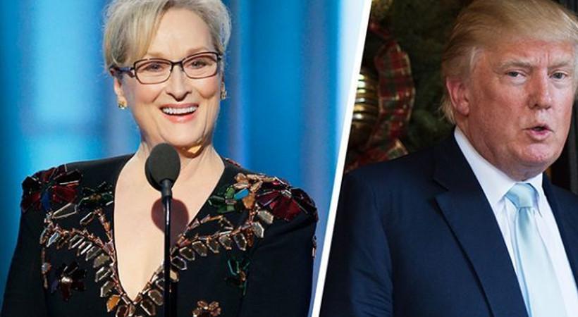 Donald Trump'tan Meryl Streep'e: O bir...