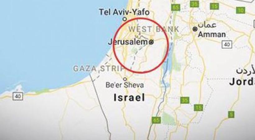 Google ve Yandex, Kudüs'ü 'İsrail'in başkenti' yaptı!