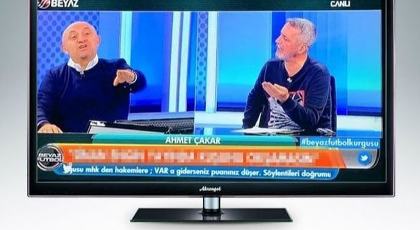 Beyaz TV ekranlarında alt yazı olay oldu!