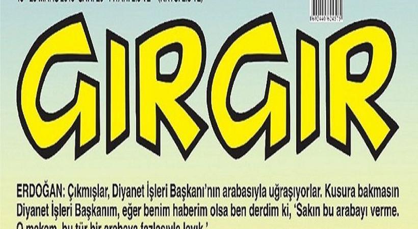 Erdoğan ve Görmez trafikte! Tartışma yaratan araba Gırgır'a kapak oldu
