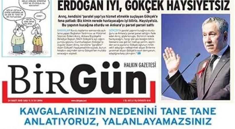 BirGün'e açılan yolsuzluk davalarında Bülent Arınç tanık gösterildi!