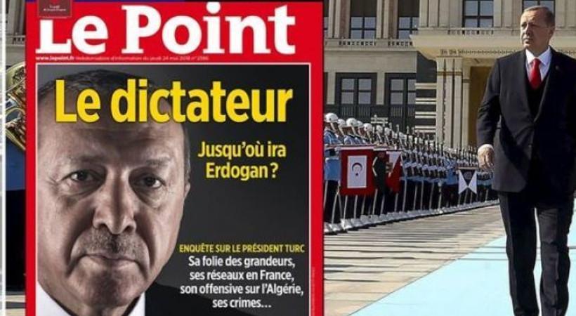 Le Point dergisinin 'Erdoğan' kapağına Fransa Cumhurbaşkanı'ndan destek!