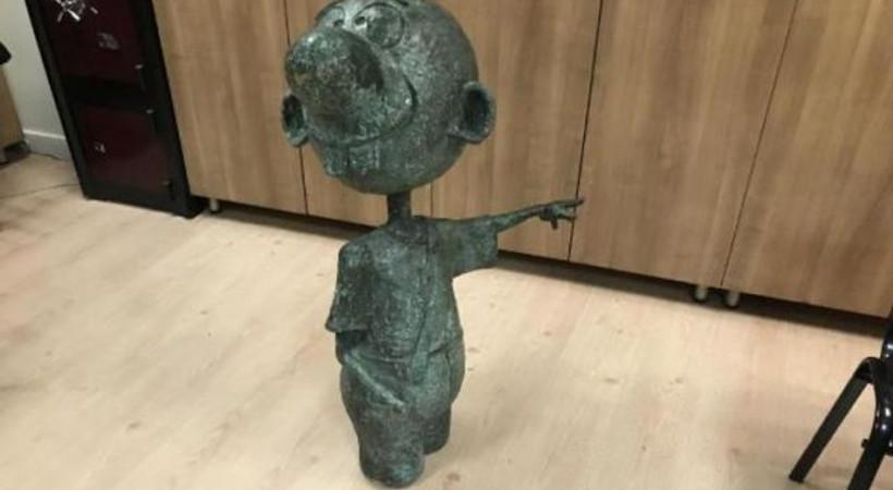 Avanak Avni heykeli bulundu, 1 kişi gözaltına alındı!