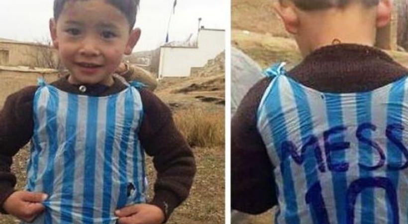 Viral olan 'Poşet formalı Messi' Afgan çıktı
