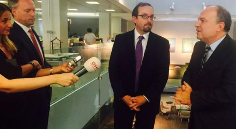 ABD Büyükelçisi'den Hürriyet'e 'geçmiş olsun' ziyareti