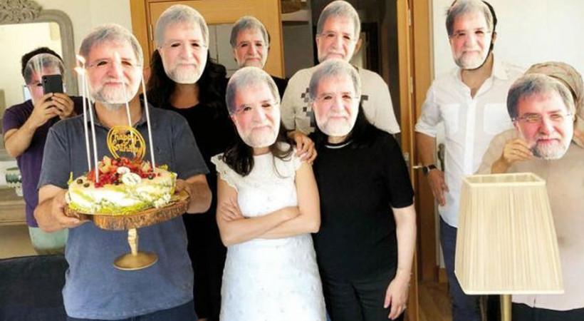 Ahmet Hakan'a komşularından sürpriz doğum günü