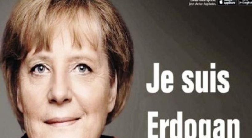Sosyal medyada Merkel'e soruşturma tepkisi: 'Je suis Erdoğan'