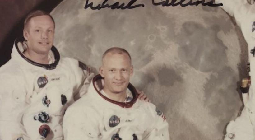 Apollo 11 astronotu Collins, daha önce yayınlanmamış bir fotoğraf paylaştı