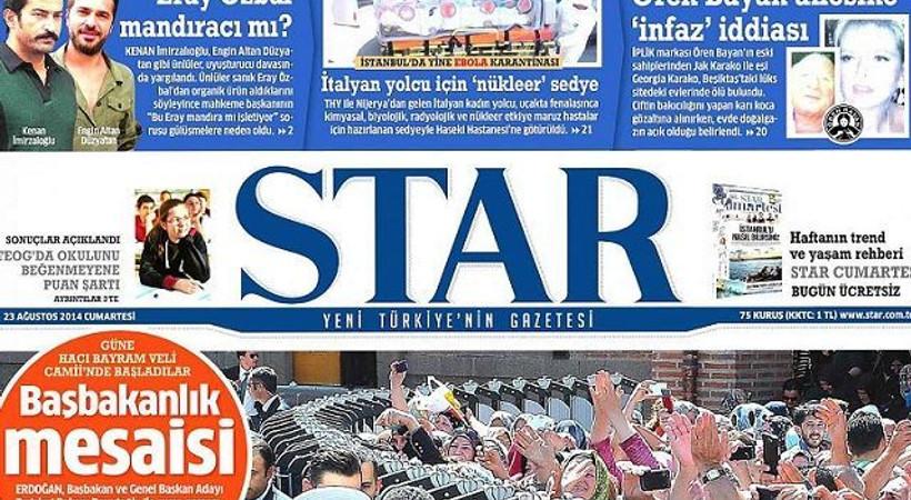 Taraf'ın haberi ortalığı karıştırdı, Star gazetesi skandala cevap verdi!