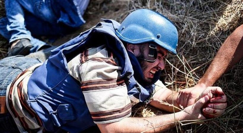 İsrail askerinden müdahale! Bir gazeteci yaralandı