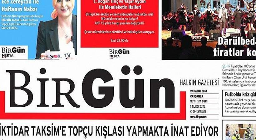 Günün dikkat çeken manşeti BirGün'den
