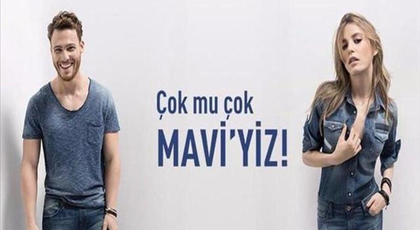 Serenay Sarıkaya ve Kerem Bürsin Mavi'nin reklamında