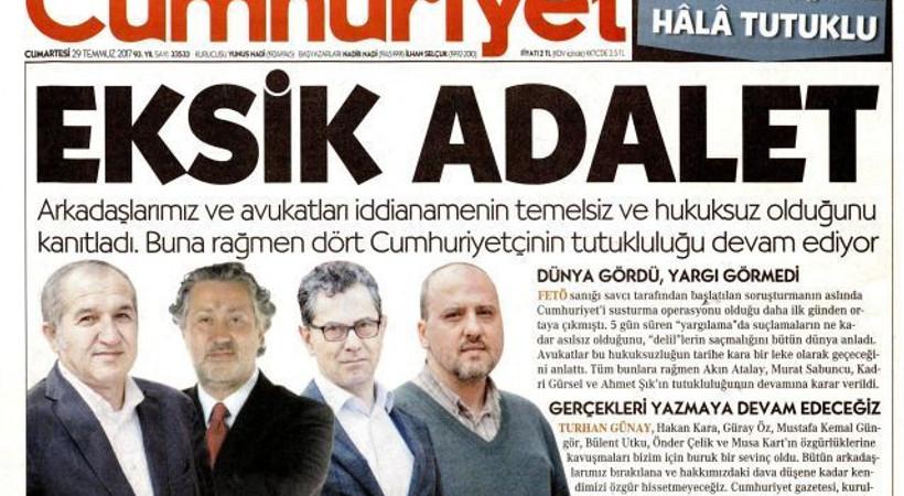 Gazeteler, Cumhuriyet davasında 'ara' kararı nasıl gördü?