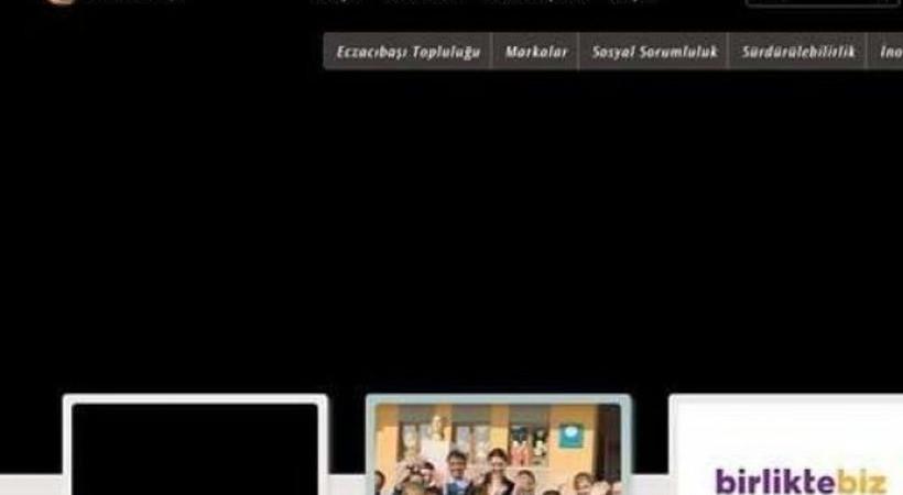 Eczacıbaşı Grubu internet sitesi siyaha büründü