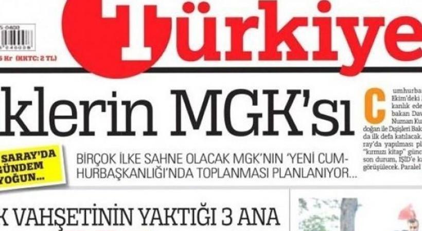 Türkiye gazetesinin manşeti tepki topladı!