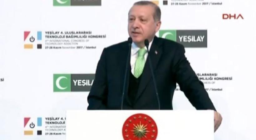 Cumhurbaşkanı Erdoğan'dan cep telefonu açıklaması!