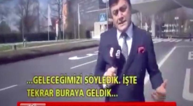 Sosyal medyada alay konusu olan A haber muhabiri yine ZDF kanalı önünde!