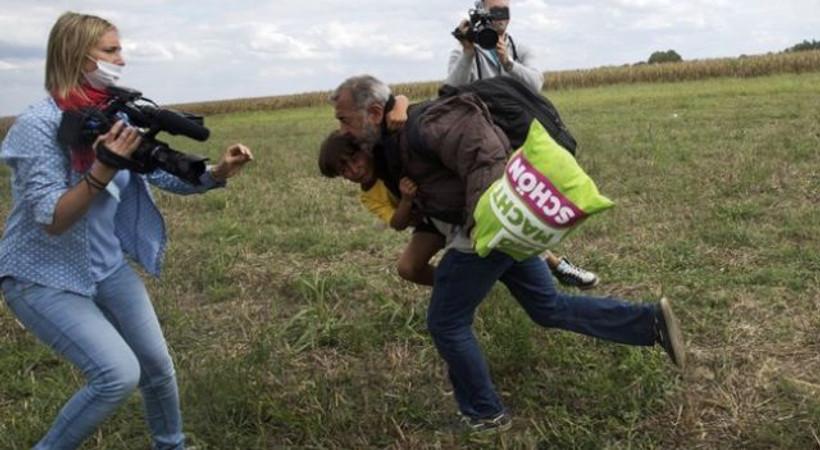 Sığınmacıya tekme atan kameramana 3 yıl hapis!